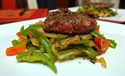 Seared Heart Cutlets with Peppers and Onions
