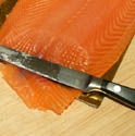 Picture of Whole Smoked Scottish Salmon Side, Sliced (approx 1kg)
