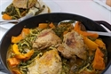 Chicken, savoy and onion squash stew