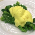 White Sprouting Broccoli with Poached Egg and Hollandaise Sauce