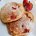 American Style Pancakes with Strawberries
