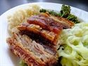 Picture of Slow-roast pork belly with celeriac & pear mash