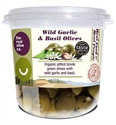 Picture of Wild Garlic & Basil Pitted Olives (185g)