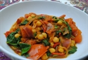 Picture of Chickpeas with Tomatoes & Baby Spinach