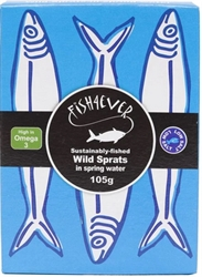 Picture of Wild Sprats in Spring Water (105g)