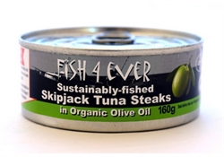 Picture of Skipjack Tuna Steaks in Organic Olive Oil (160g)